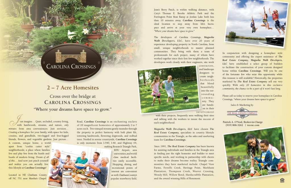 Carolina Crossings Brochure, inside