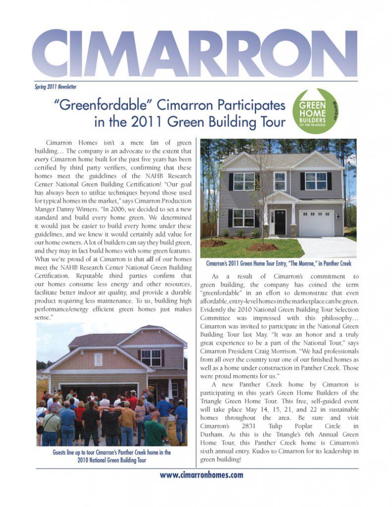 Cimarron Spring 2011 Newsletter