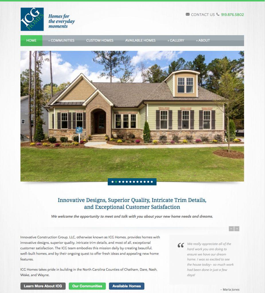 ICG Homes Home Page