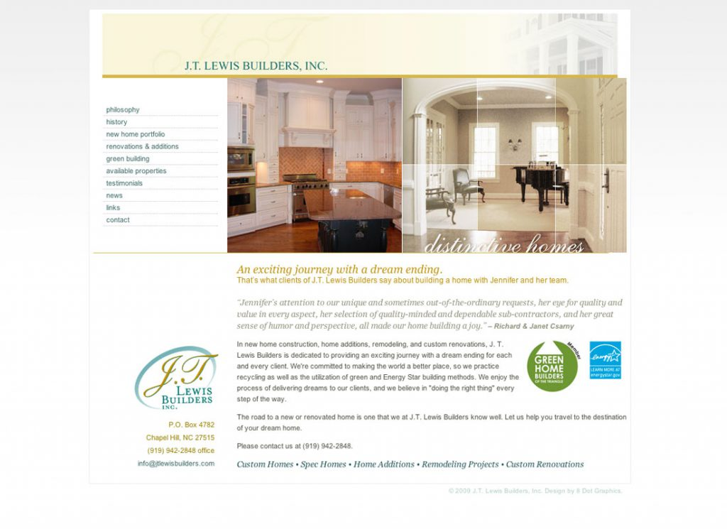 J.T. Lewis Builders Home Page