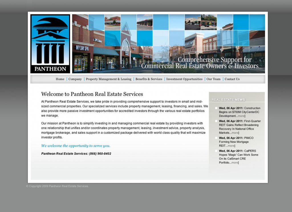 Pantheon Real Estate Services Home Page