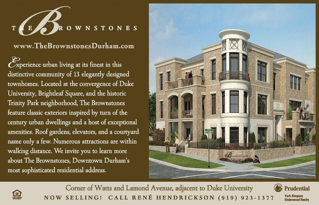 The Brownstones Duke Magazine Ad