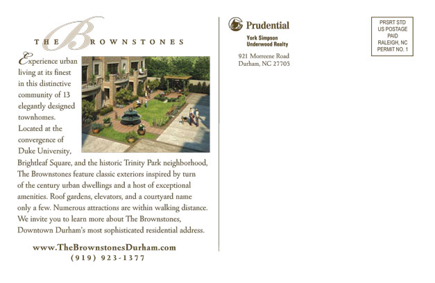 The Brownstones Postcard Back
