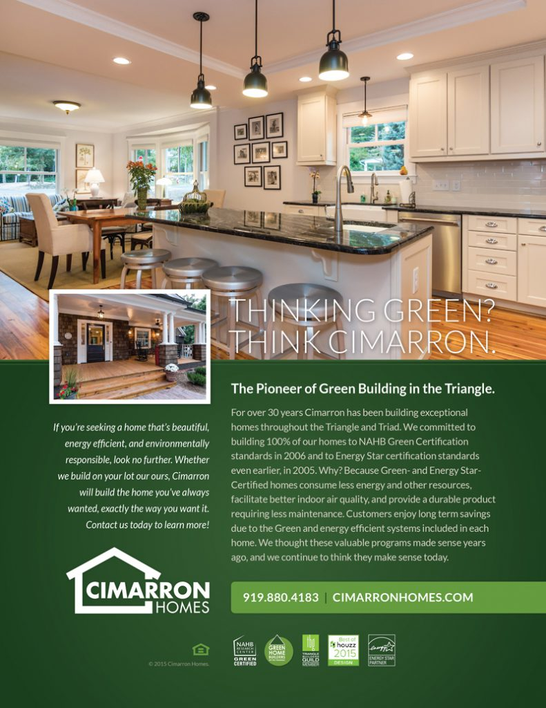 Cimarron Homes Green Home Builder Ad