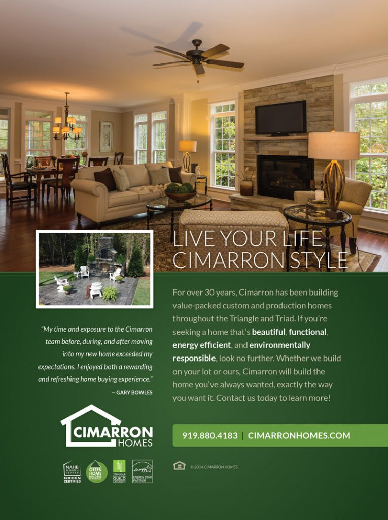 Cimarron Homes Durham Relocation Ad