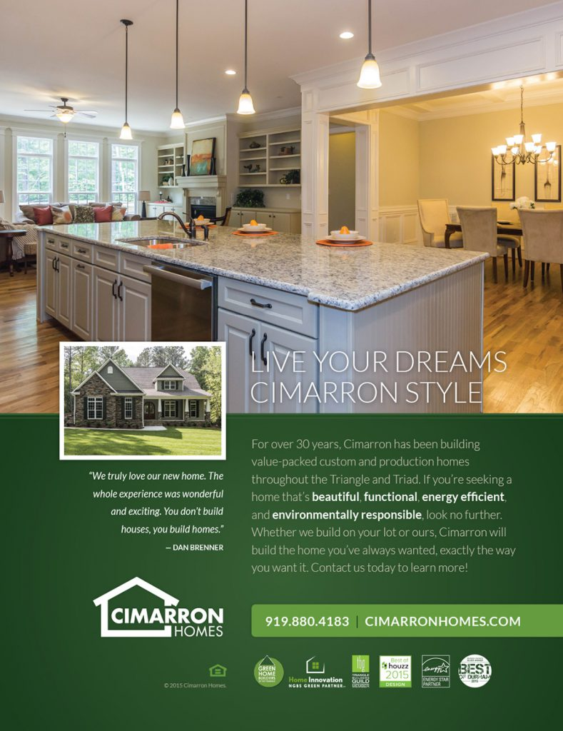 Cimarron Homes Parade Ad 2015