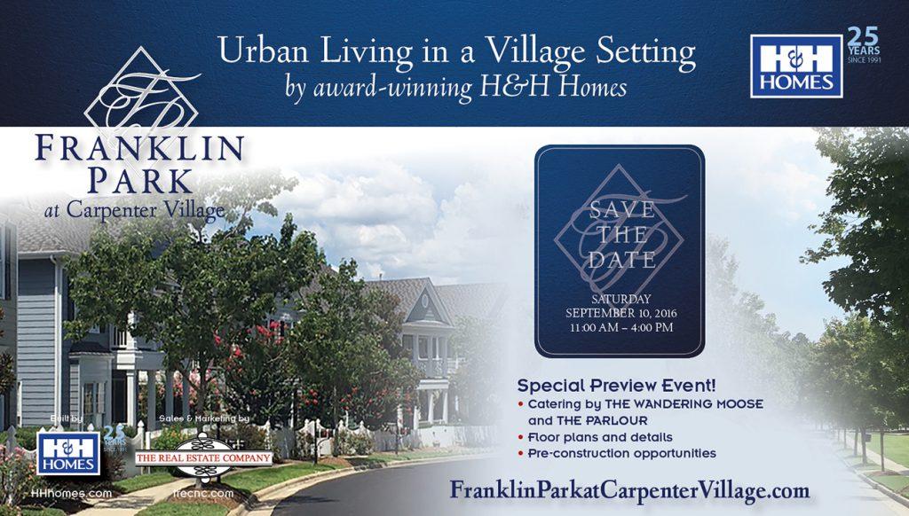 Franklin Park Post Card Front