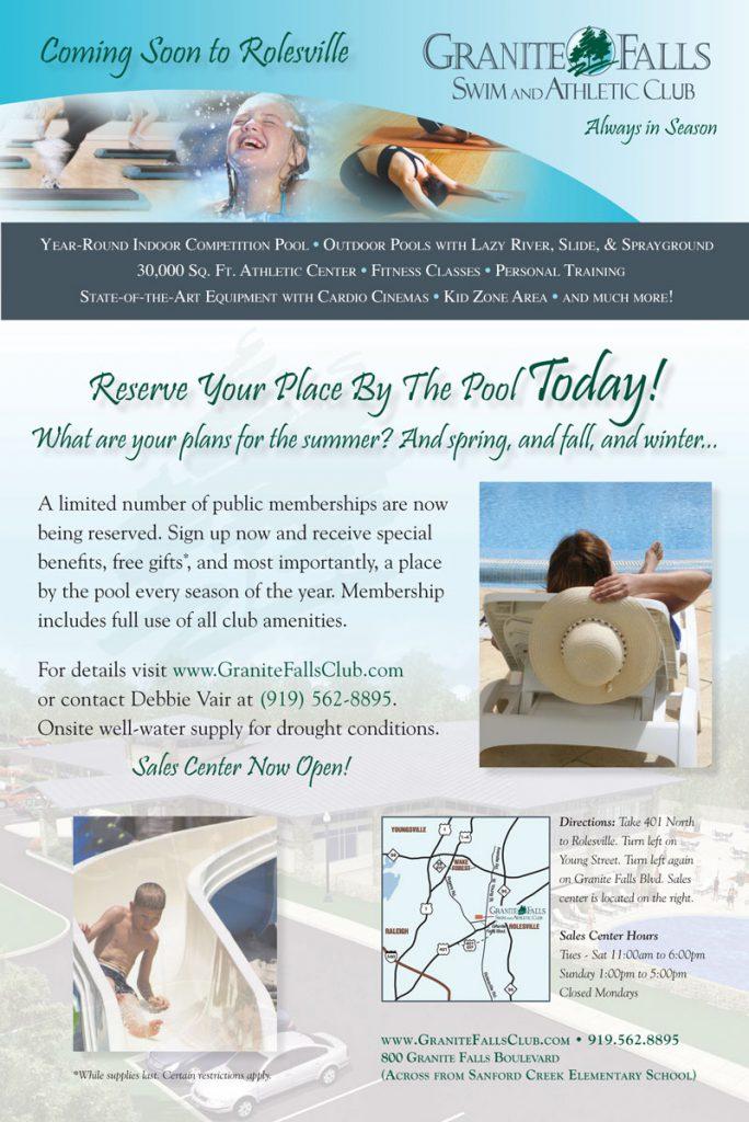 Granite Falls Swim & Athletic Club Ad