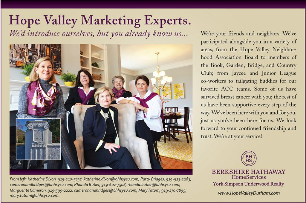 Hope Valley Living Ad