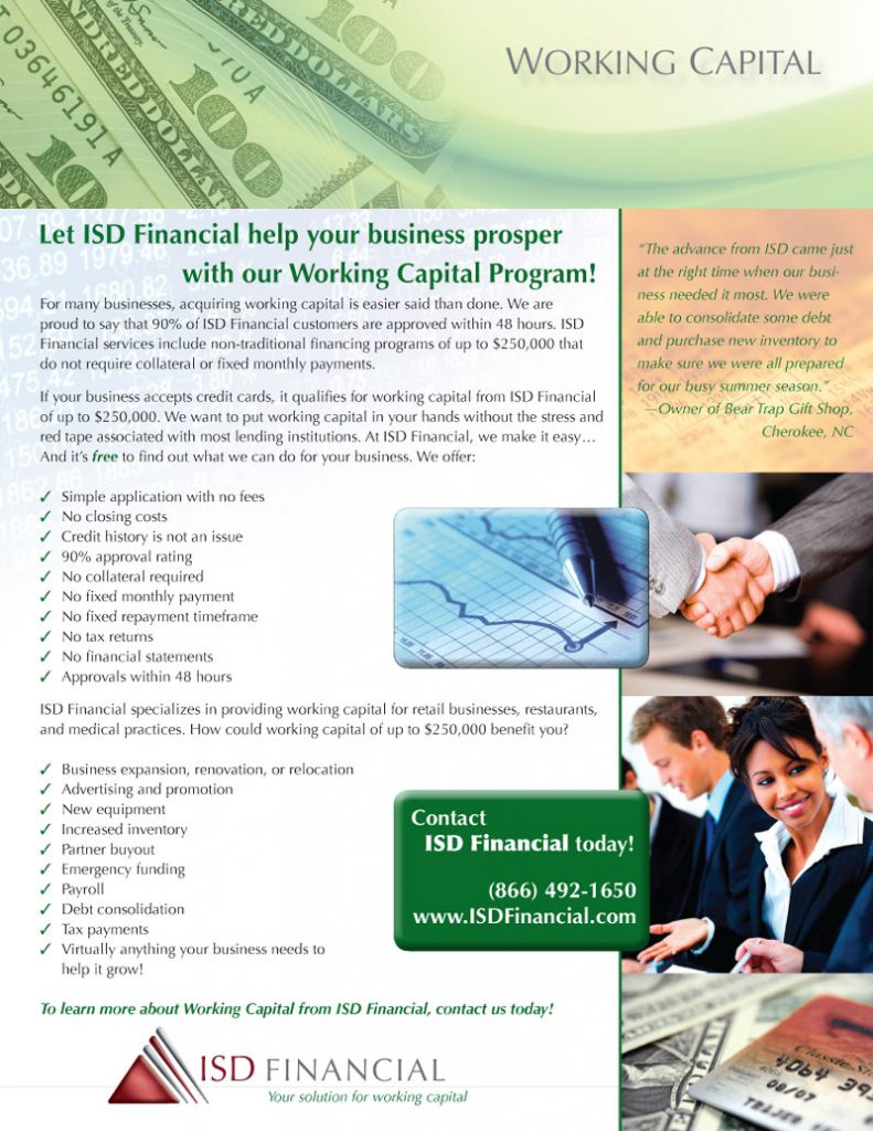 ISD Financial Working Capital Flier