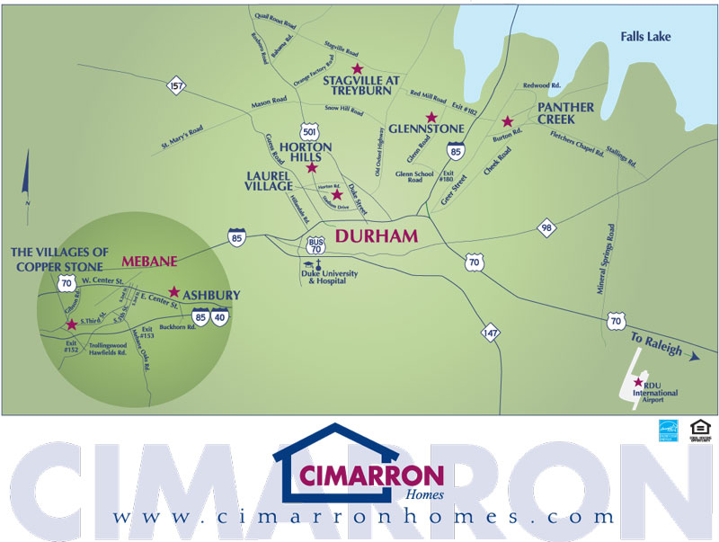 Cimarron Homes Neighborhood Map