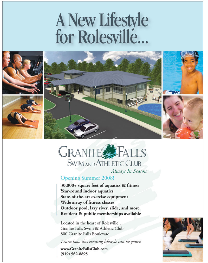 Granite Falls Swim and Athletic Club Rolesville Chamber Ad