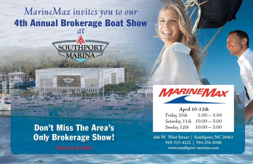 Southport Marina Boat Show Post Card Front