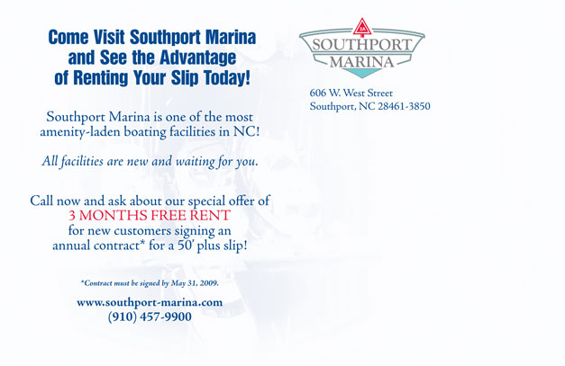 Southport Marina Postcard Back