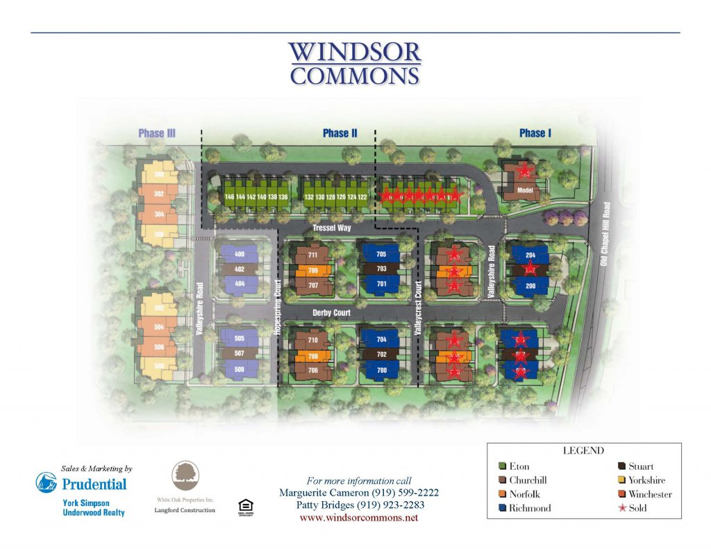 Windsor Commons Site Map