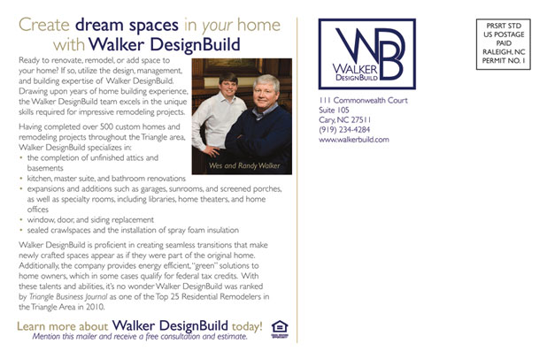 Walker Design Build Postcard Back