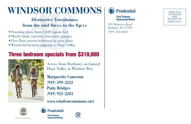 Windsor Commons Postcard Back