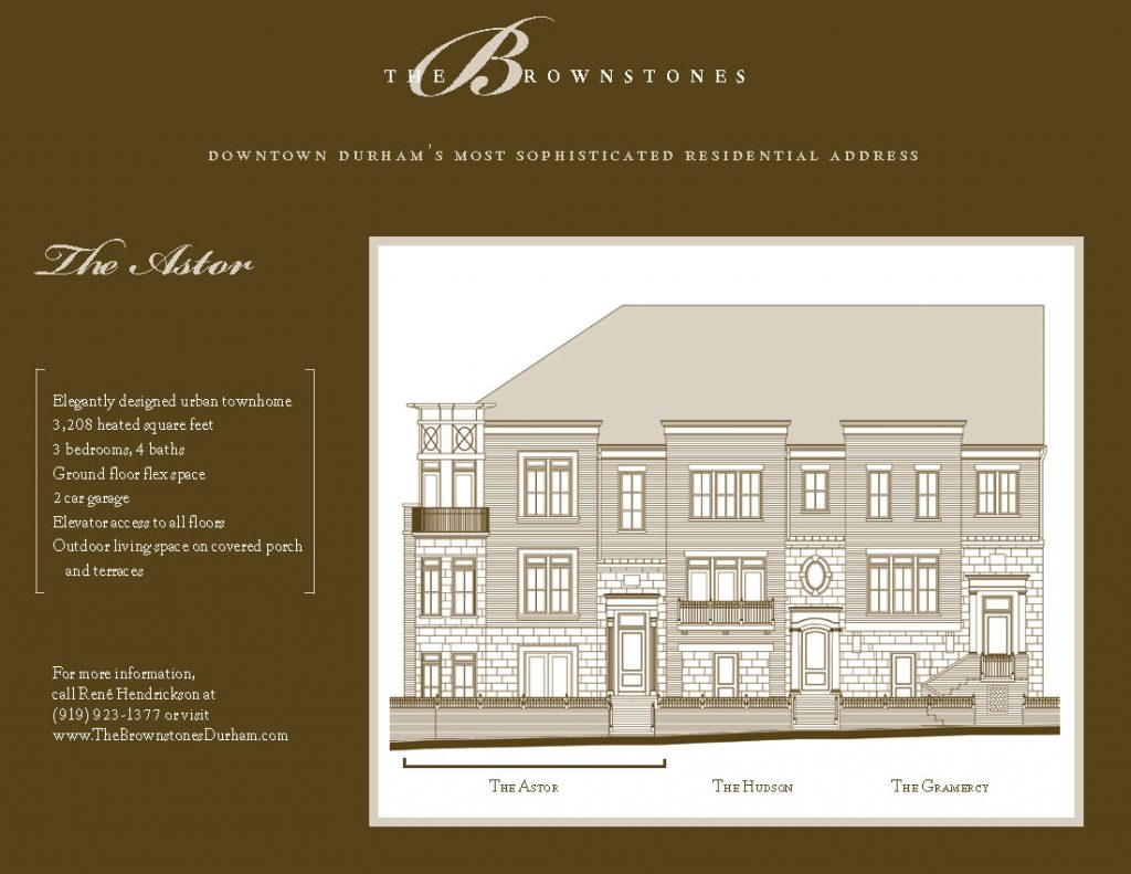 The Astor Front Elevation Brochure Insert