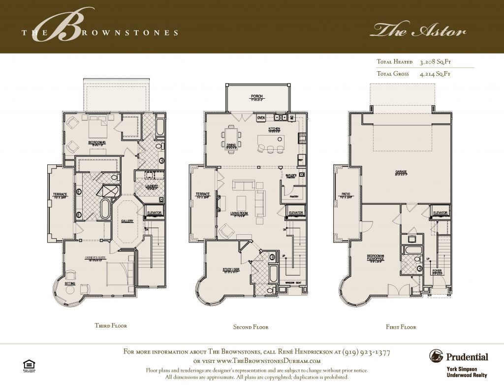 The Astor Floor Plan Brochure Insert