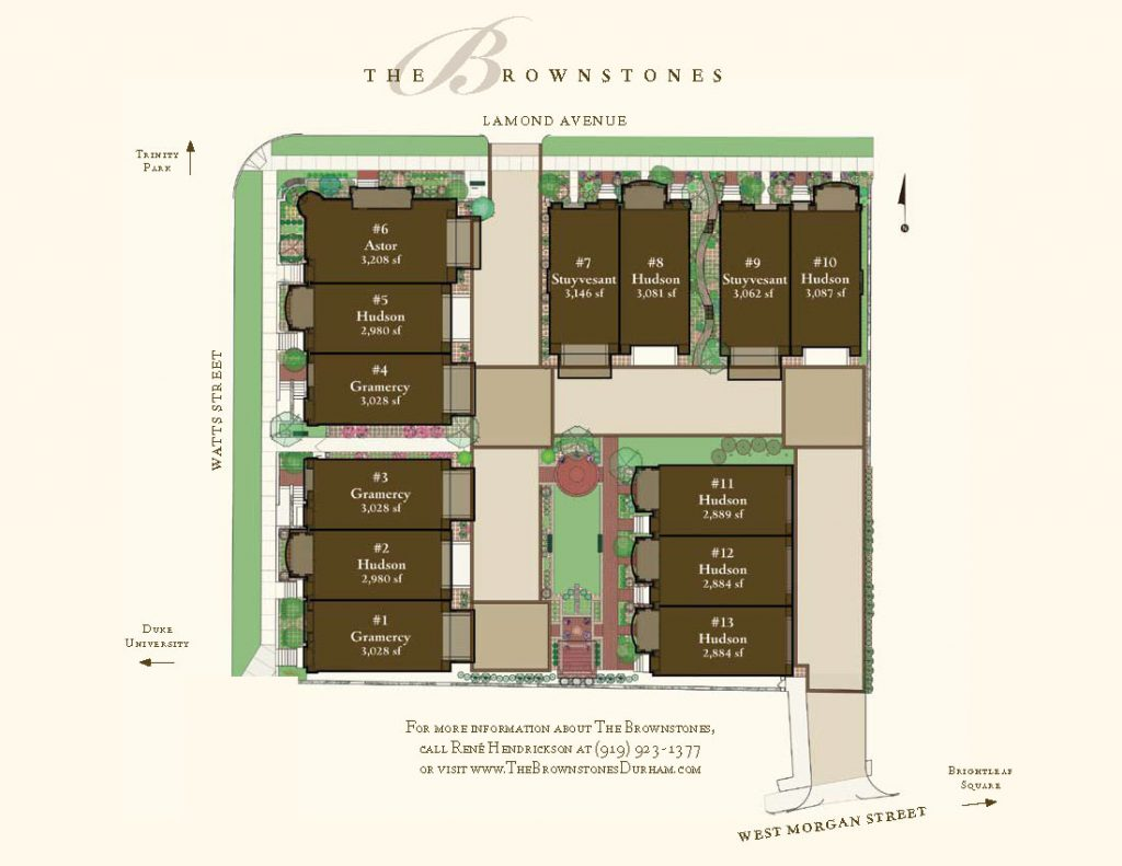The Brownstones Site Plan Brochure Insert