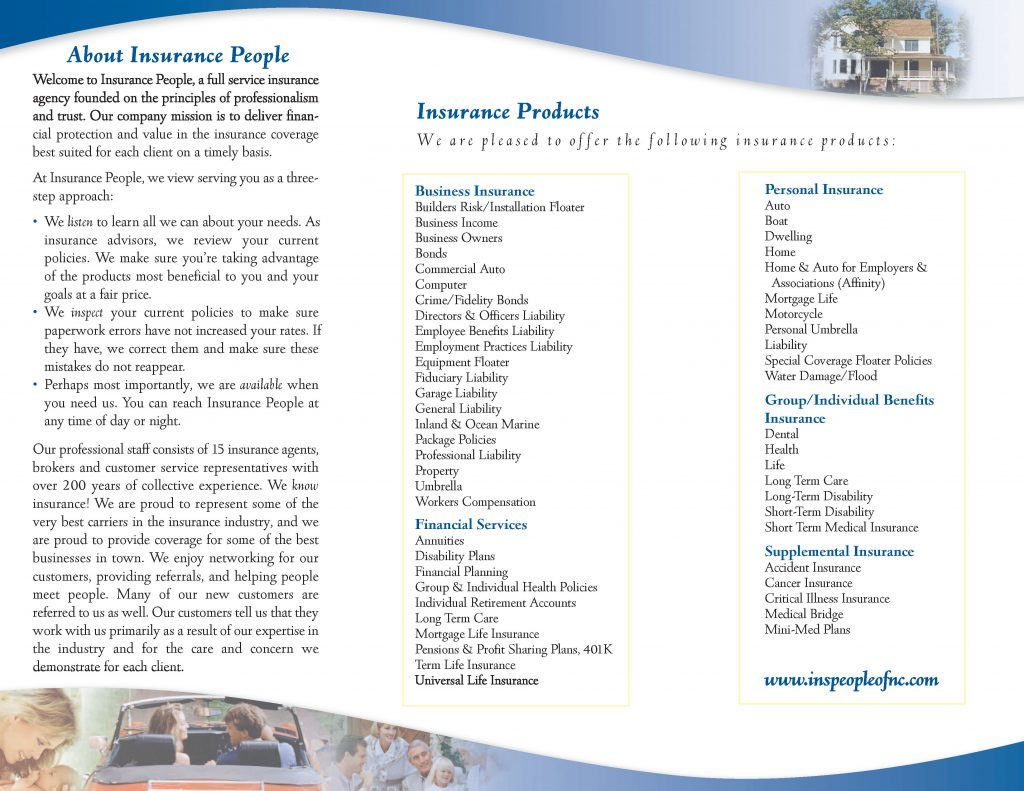 Insurance People Tri-fold Center Panel