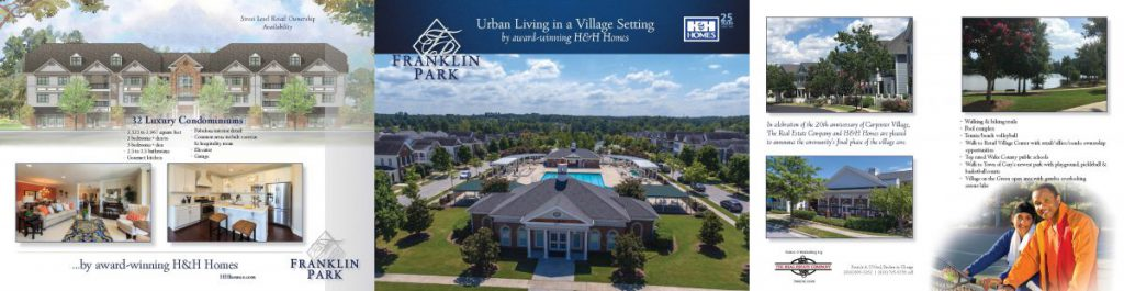 Franklin Park Tri-fold Brochure, front