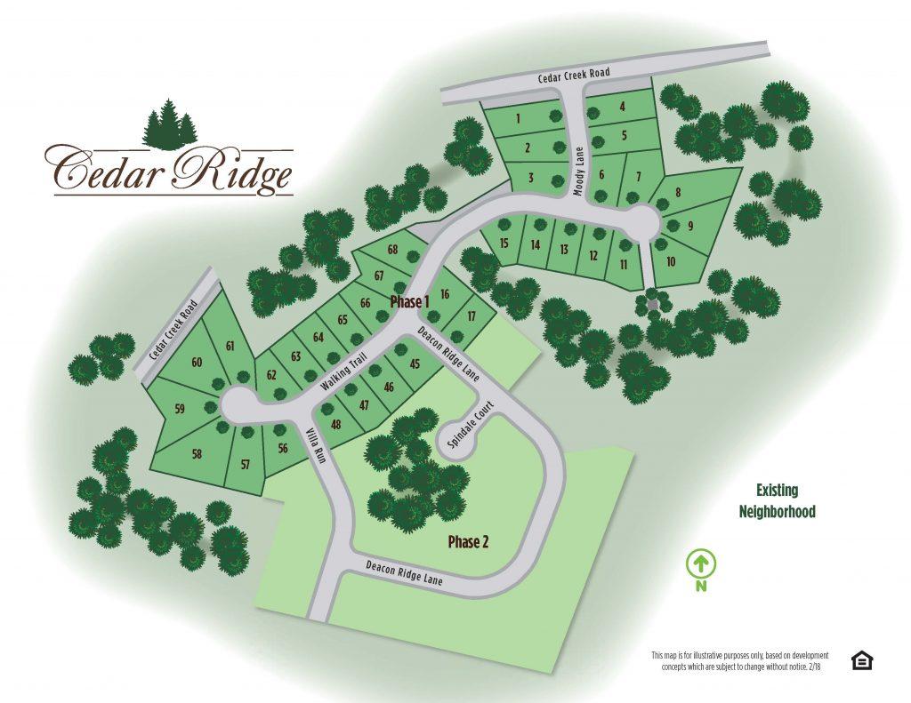 Cedar Ridge Map