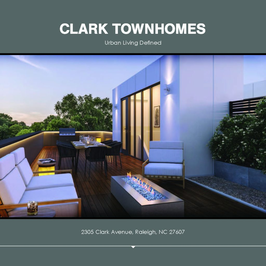 Clark Townhomes Brochure, page 1