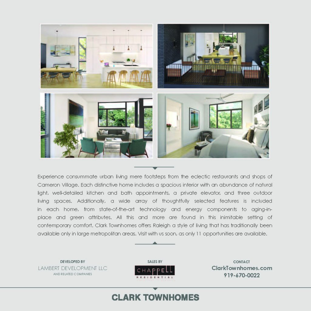 Clark Townhomes Brochure, page 3
