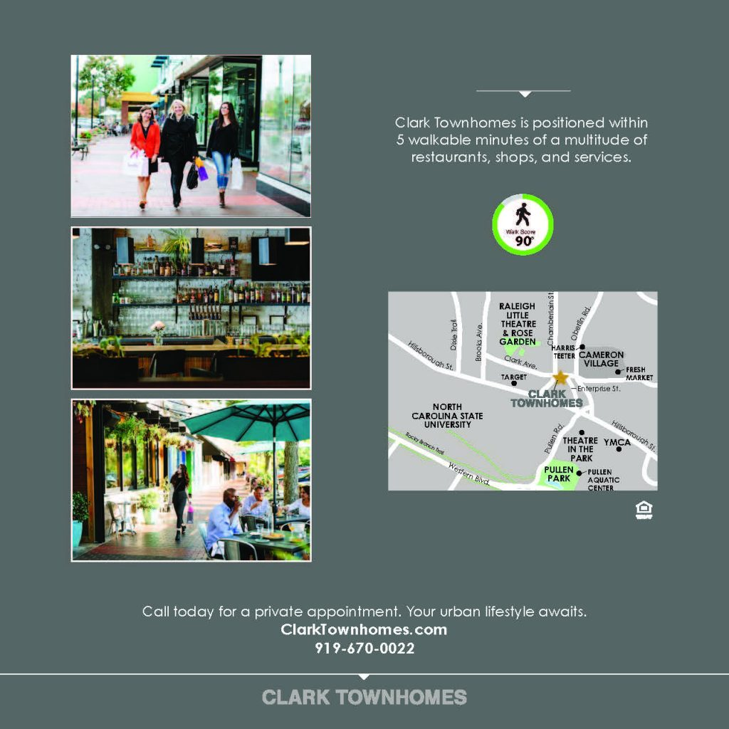 Clark Townhomes Brochure, page 4