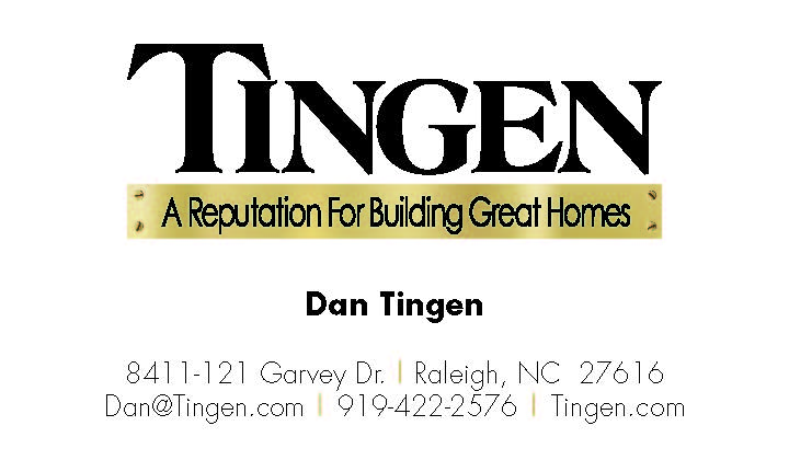 Tingen Construction Business Card