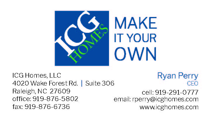 ICG Homes Business Card